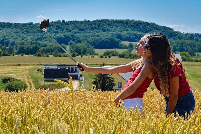 麦畑のなかでselfie