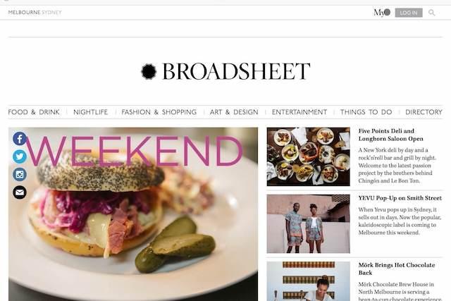 BROADSHEETサイトの画像