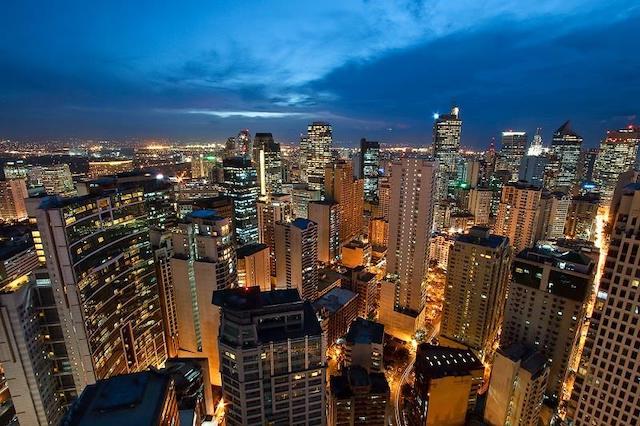 フィリピン都市の夜景