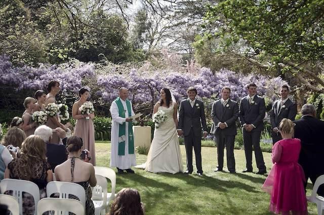 Australiaの結婚式のようす