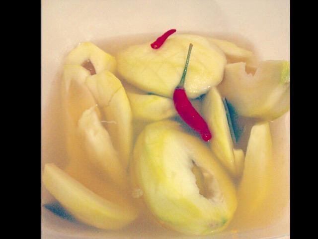 マンゴーの漬物